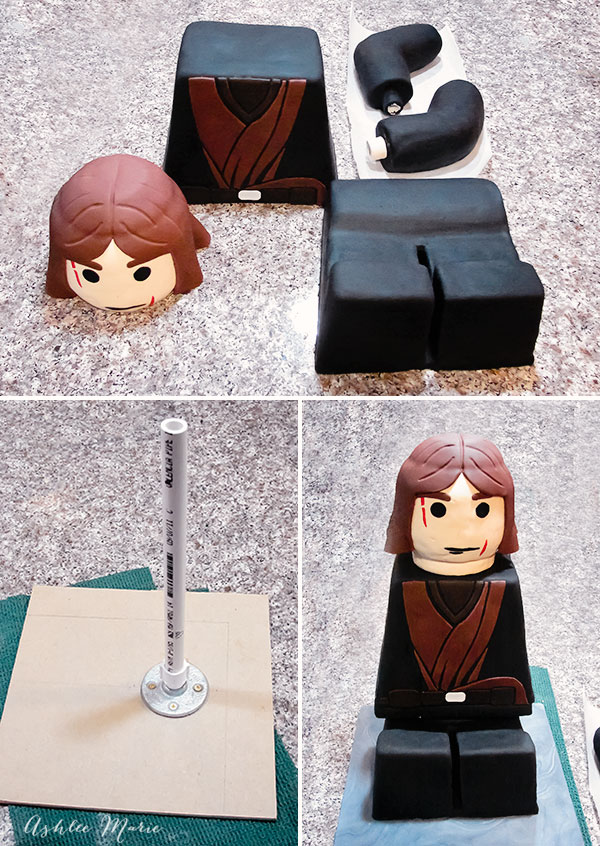 Lego Star Wars Anakin Skywalker Sitting Cake