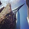 Underneath raven sculpture. #publicart #lookingup #cityscape #nyc #architecture #art #broadway