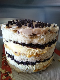 Passion Fruit Chocolate Chip Layer Cake