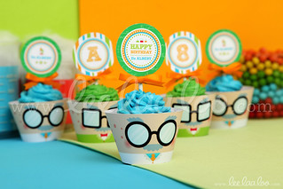 20b - Mad Scientist - Party Circle & Cupcake Wraps - B43
