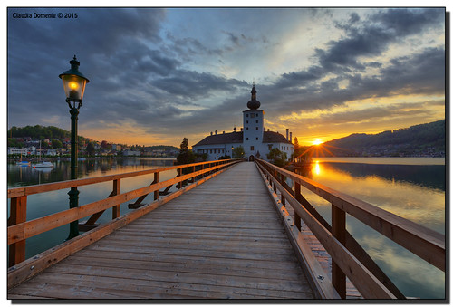 morning bridge sun lake mountains castle clouds sunrise reflections austria österreich oberösterreich hdr traunstein upperaustria gmunden traunsee schlossort 7exp canonef1635mmf28lii dphdr seeschlossort canoneos5dmarkiii 5d3 5diii adobephotoshopcs6 adobelightroom5