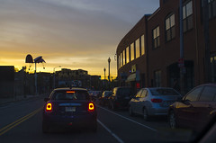 Porter Square sunset