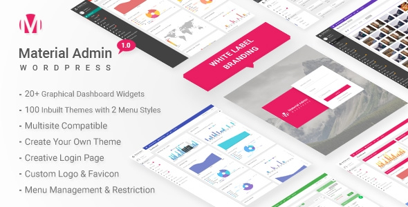 Material v3.2 - White Label WordPress Admin Theme