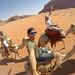 En camello por el desierto de Wadi Rum