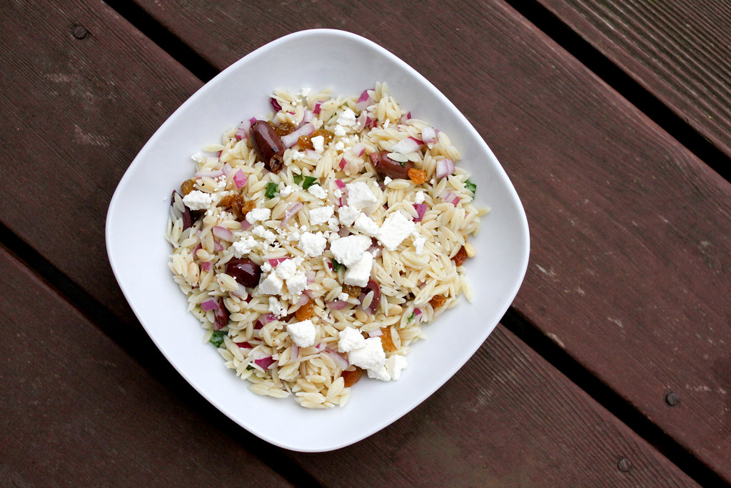 recipe: lemon orzo salad with pine nuts [21]