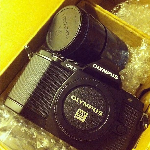 OMG my #OM-D came today!!! Thank you #Olympus. #microfourthirds #camera