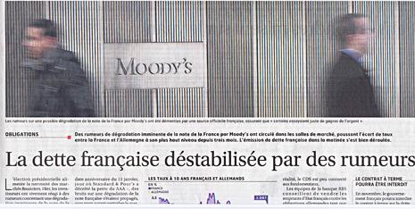 12d21 Les Echos Deuda francesa desestabilizada por rumores Uti