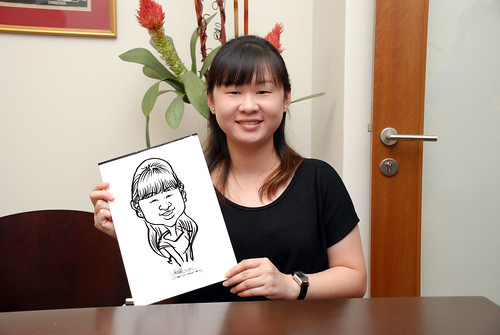 Caricature live sketching for Marks & Clerk Singapore LLP Christmas Party - 5