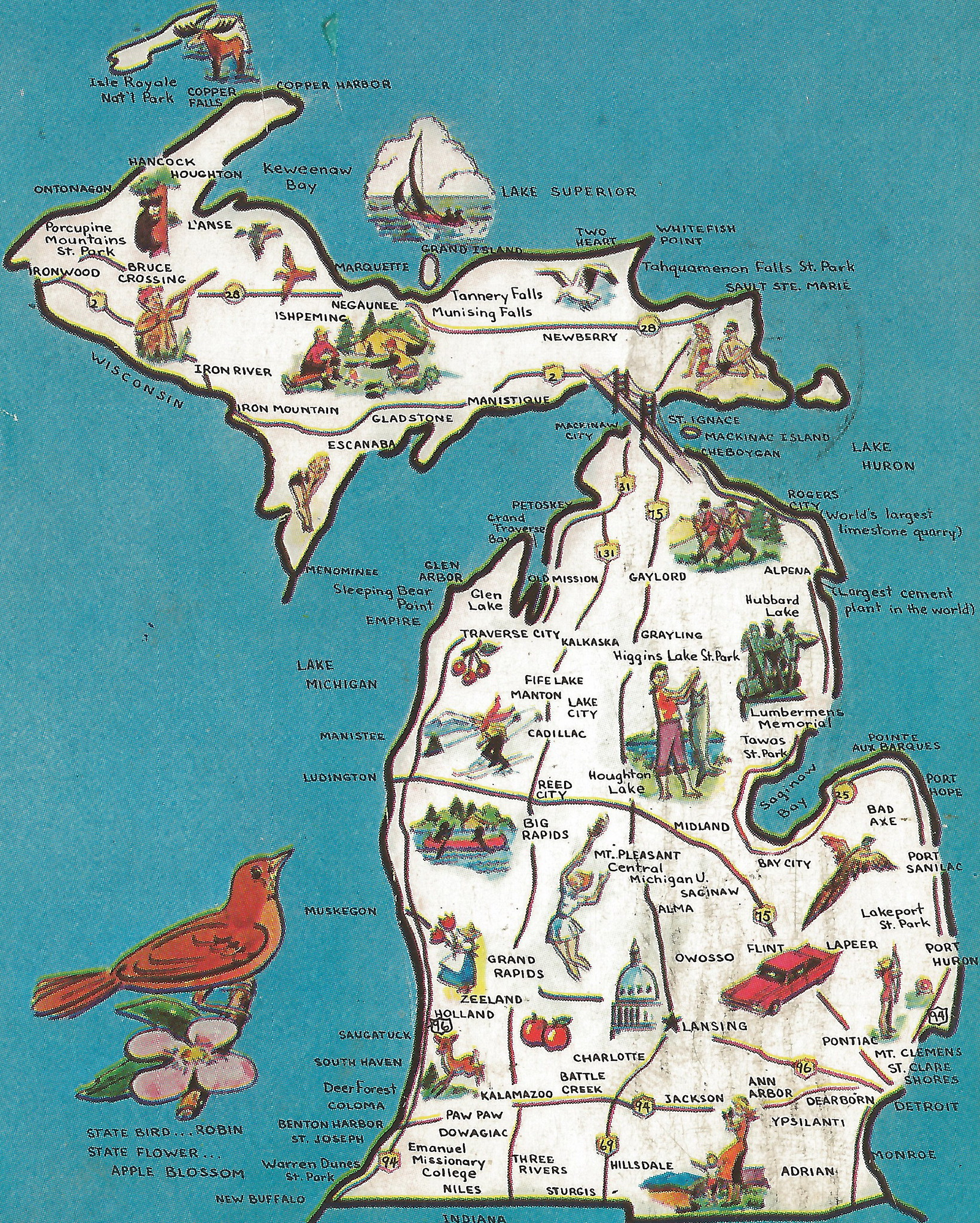 Michigan Tourism – Michigan Tourist Attractions Map