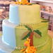 Waterfall Baby Shower Cake - <span>www.cupcakebite.com</span>