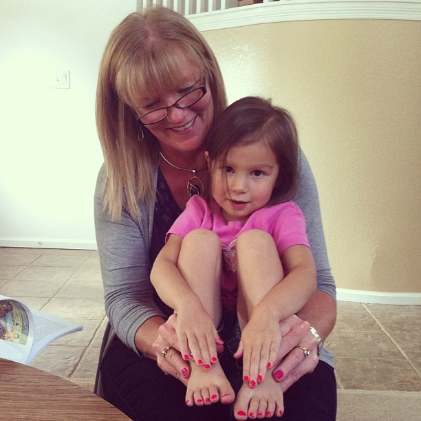 Mimi's in town painting nails.