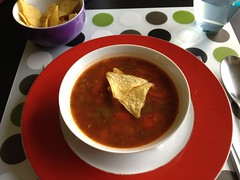 Tortilla chip soup