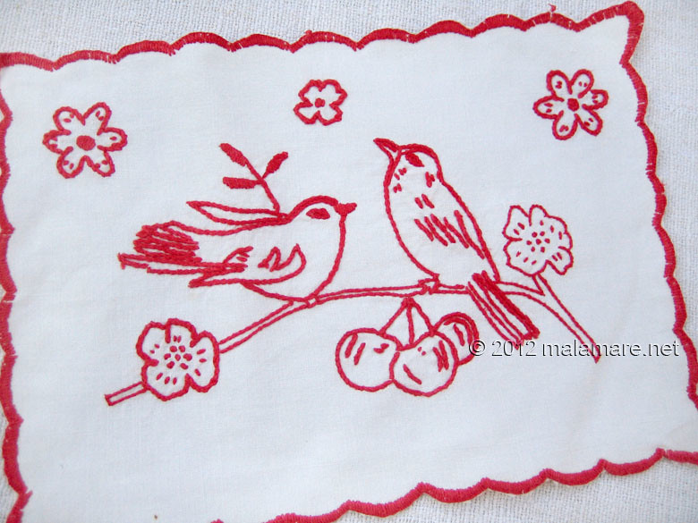 hand embroidery stem stitch birds