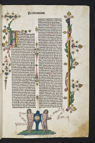 Page decorated by Pico Master from Johannes de Janduno: Quaestiones super libros De anima Aristotelis