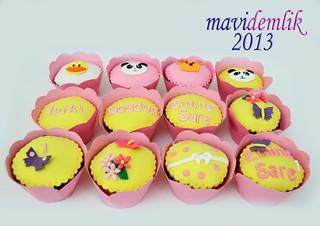 hayvan temali cupcake'ler