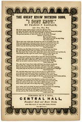 The Great Know Nothing Song, I Don't Know, ca. 1850s