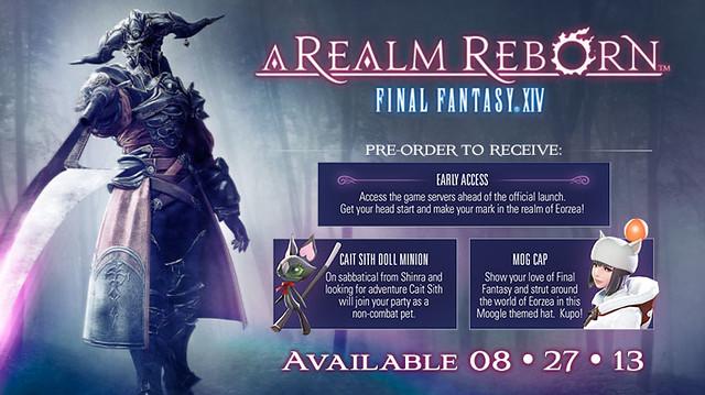 Final Fantasy XIV: A Realm Reborn Pre-Order Bonuses