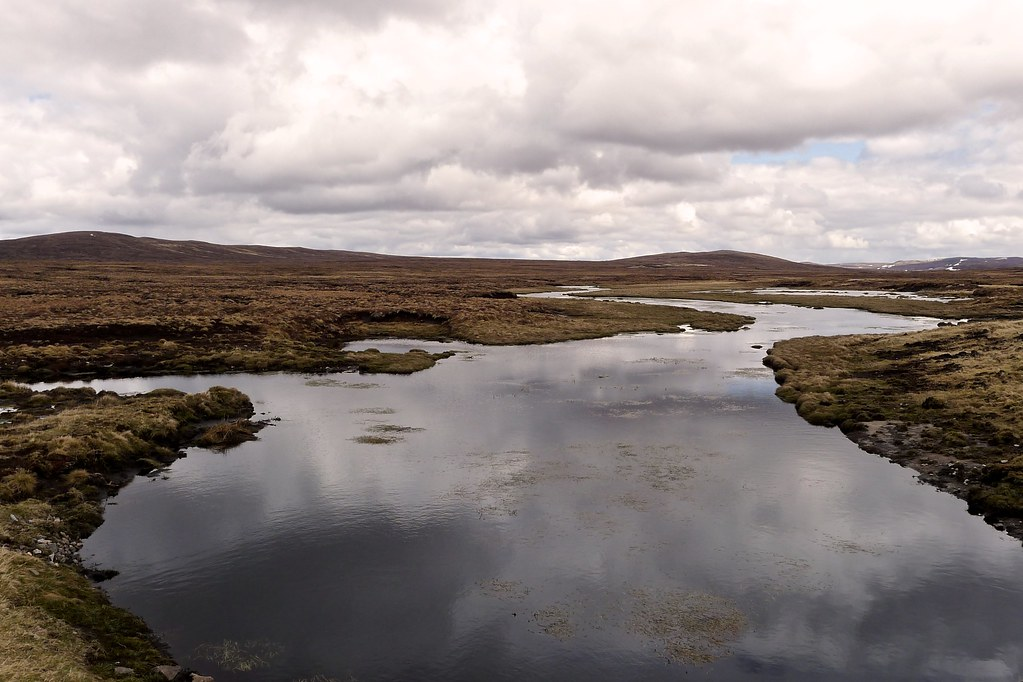 Marshy pools near Glendoe Reservoir