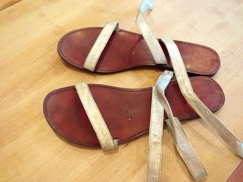 Old Sandals - Before