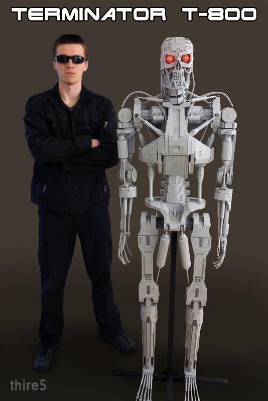 Terminator T-800 life size sculpture