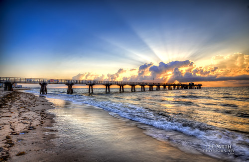 Another Pompano Pier Sunrise by smittysholdings