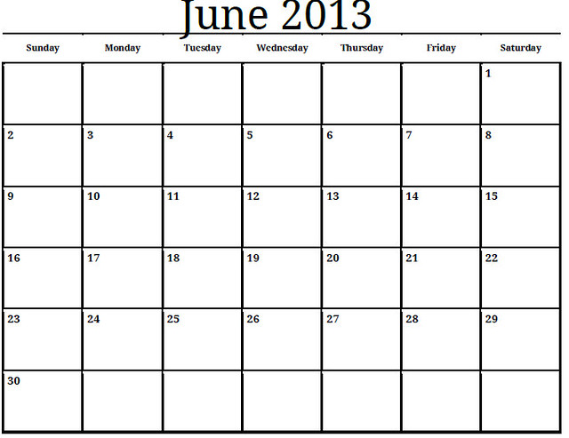 June-2013-Monthly-Calendar-Photo