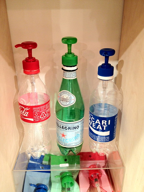 ペットボトルにポンプ機能が付けられるアタッチメント