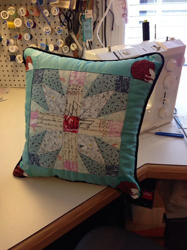 Schoenrock Cross pillow finished