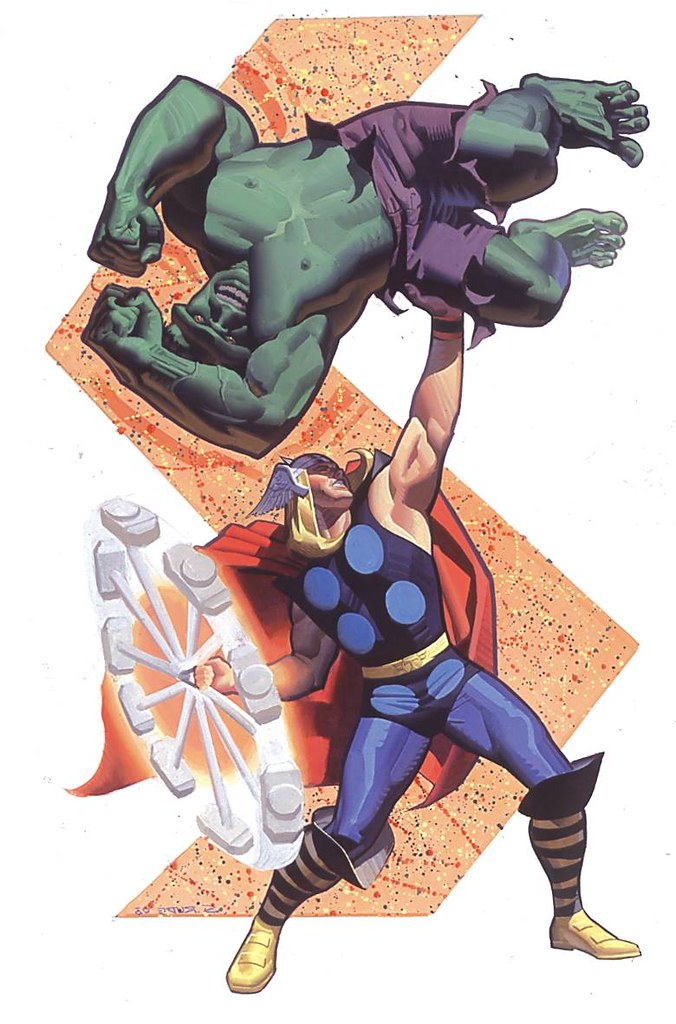 Thor vs Hulk 2013 by Steve Rude