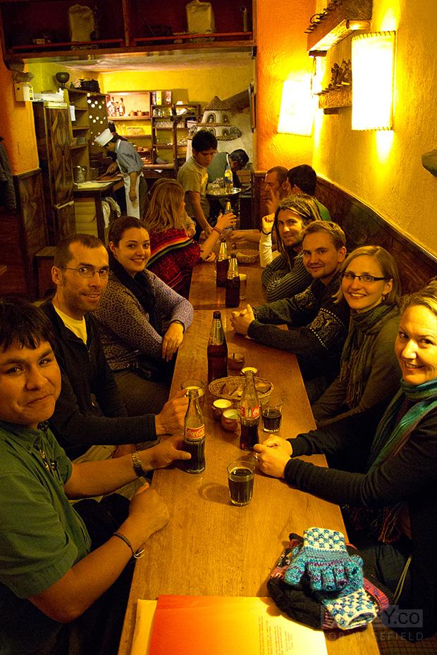 The hungry gang all assembled at 'El Molino'.