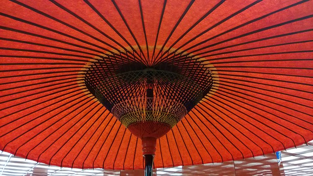Traditional japanese parasol