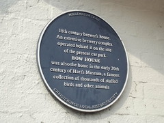 Photo of Bow House, Christchurch and Hart's Museum blue plaque