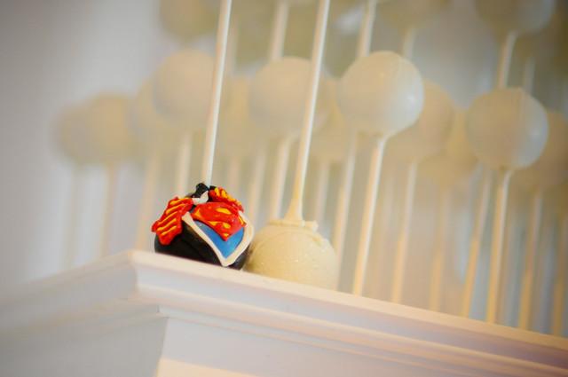 Supergroom cake pop!