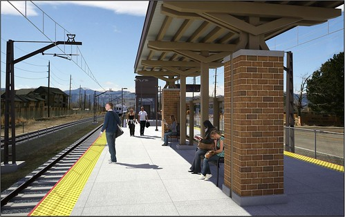 Artistic rendering of Arvada Ridge Station passenger platform area