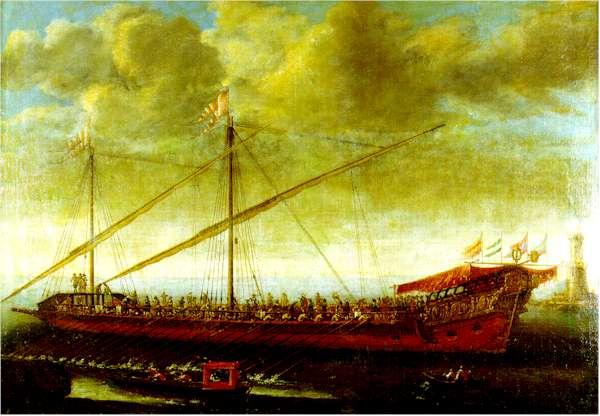 Galera española de tiempos de Carlos II. Obra de Manuel de Castro (antes de 1712)