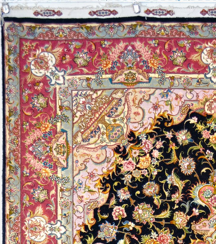 70 Raj Tabriz Gharebaghi Persian Silk Area Rug