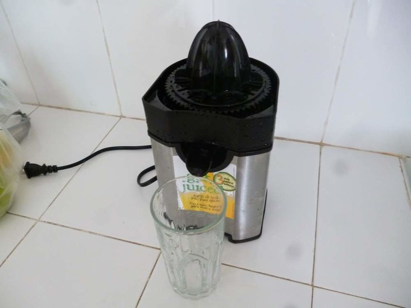 Hostal Casa Verde orange juicer