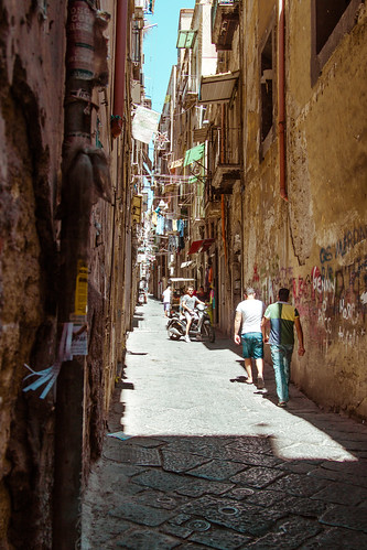 Naples alley #1 by Davide Restivo