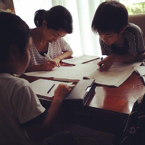 みんなで宿題。