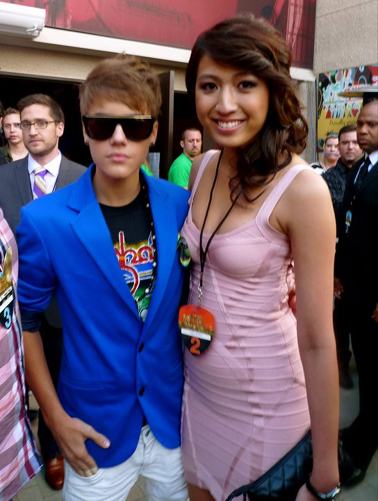 Justin Bieber and Jeane Napoles