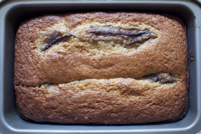 Banana Bread with Lemongrass Caramel