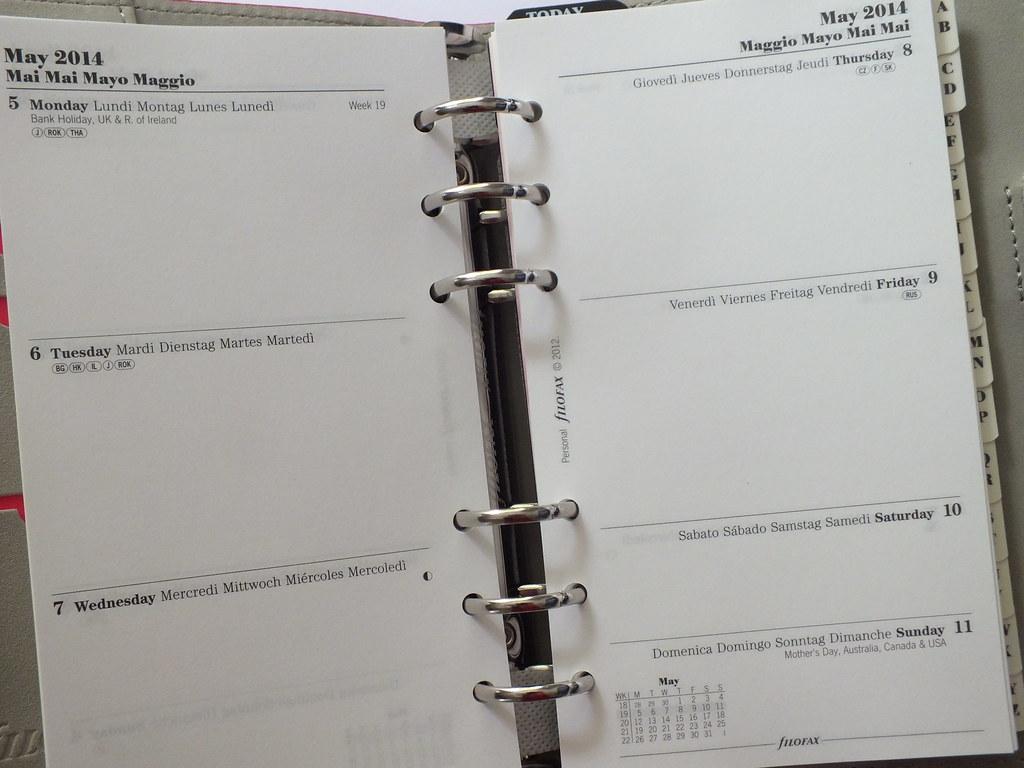 Filofax Domino Deep Pink Diary