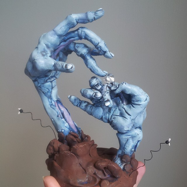 Zombie Hands Cake Topper   Flickr - Photo Sharing!