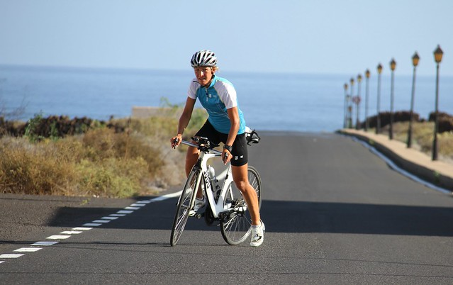 Bike riding near Orzola Lanzarote