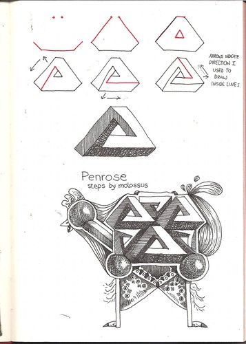 Tangle pattern Penrose
