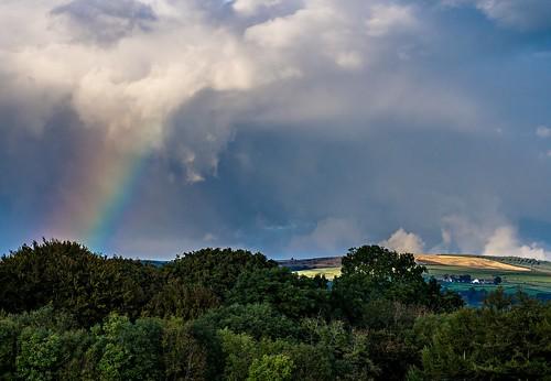 sky colour clouds landscape rainbow mygearandme themrgnu olympusem5 gnollparkneathsouthwales