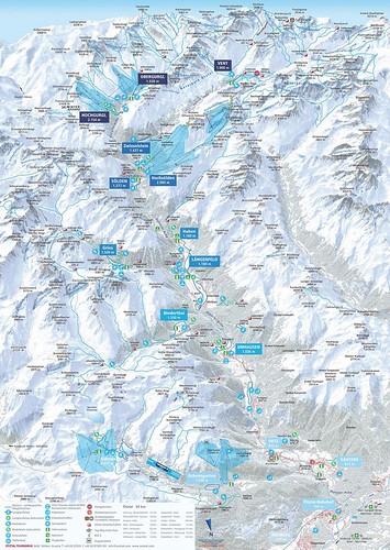 Ötztal - mapa sjezdovek