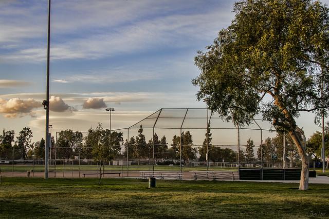 Baseball field at Rio San Gabriel Park