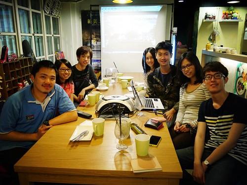 TWYCC的成員,舉辦討論會,討論生態城市。攝影:郭叡