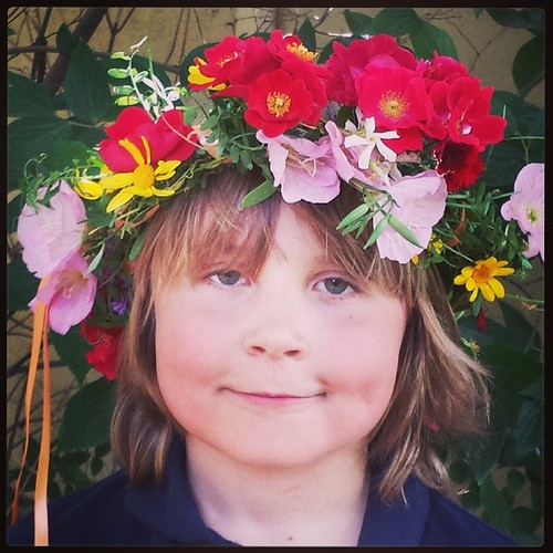My lovely son #waldorf #sacramentowaldorfschool#waldorf #mayday #magic #7yearold #firstgrade
